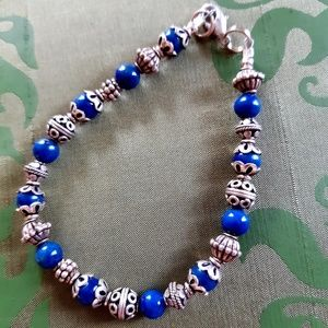 Jewelry - Lapis and Sterling silver bracelet